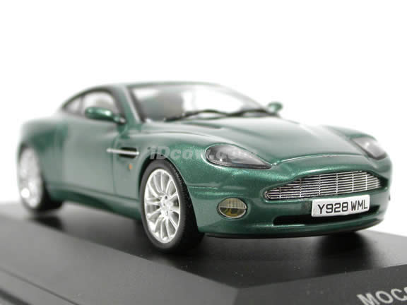 2002 Aston Martin Vanquish V12 diecast model car 1:43 scale die cast by ixo - Metallic Green