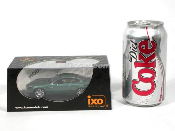 2002 Aston Martin Vanquish V12 diecast model car 1:43 scale die cast by ixo - Metallic Green