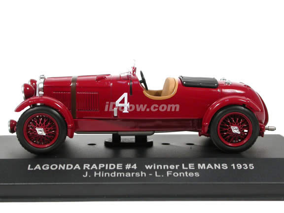 1935 lagonda rapide 4 le mans winner diecast model car 1 43 scale die cast by ixo. Black Bedroom Furniture Sets. Home Design Ideas