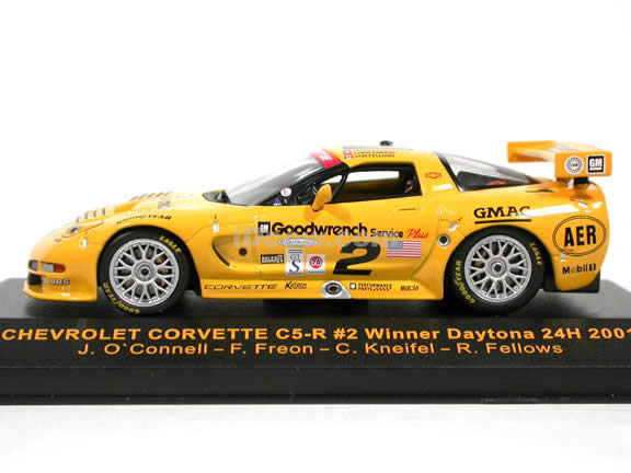 2001 Chevrolet Corvette C5-R #2 Daytona 24H Winner diecast model car 1:43 scale die cast by ixo
