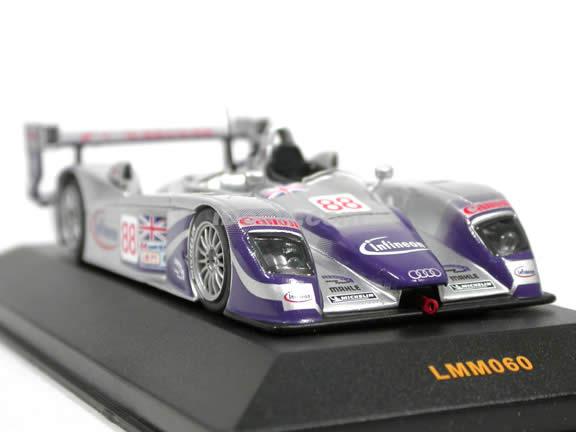 2004 Audi R8 Audi Sport UK #88 Le Mans Racer diecast model car 1:43 scale die cast by ixo