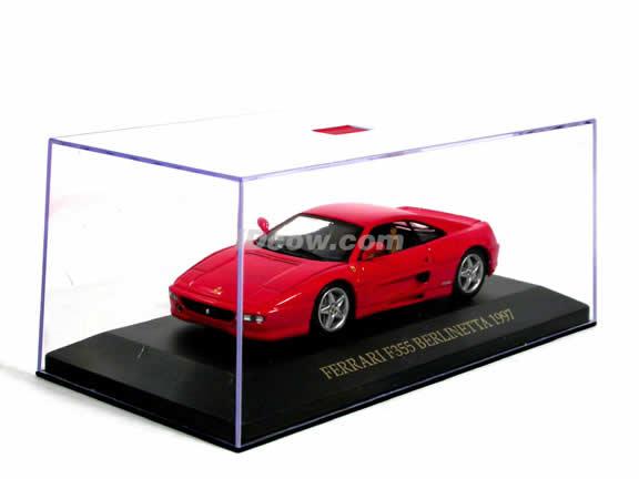 1997 Ferrari F355 diecast model car 1:43 scale die cast by ixo - Red FER015
