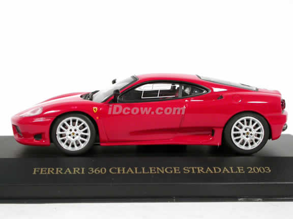 2003 Ferrari 360 Challenge Stradale diecast model car 1:43 scale die cast by ixo - Red FER011