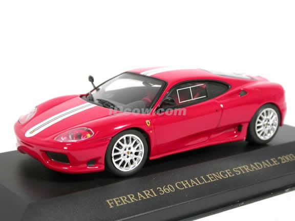 FERRARI 360 CHALLENGE STRADALE 1:43 Model Die Cast Toy Car Diecast Miniature RED