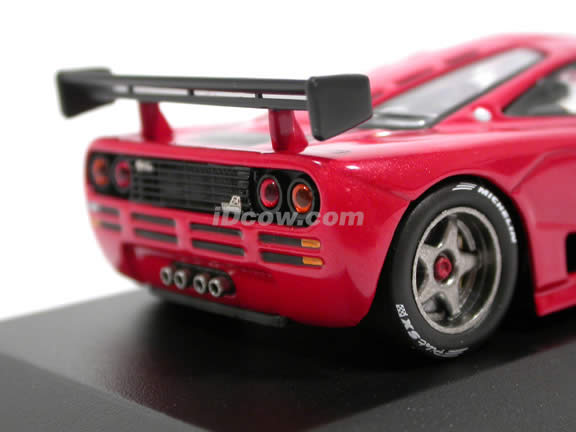 1995 McLaren F1 GTR Prototype diecast model car 1:43 scale die cast by ixo - Red MOC075