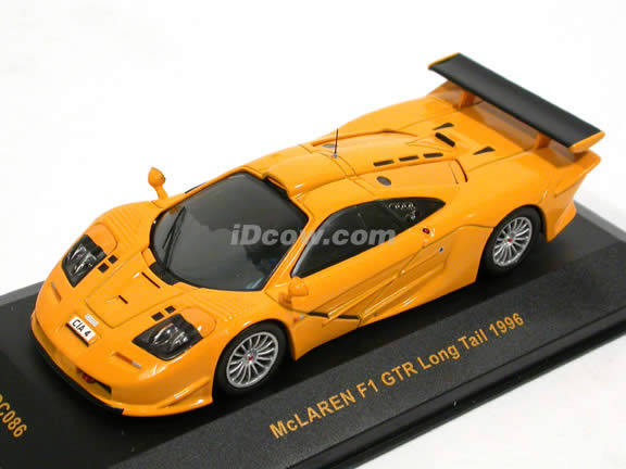 1996 McLaren F1 GTR diecast model car 1:43 scale die cast by ixo - Yellow MOC086