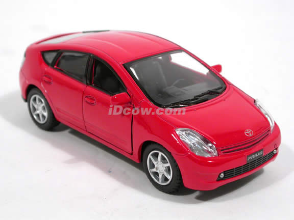 2006 Toyota Prius diecast model car 1:34 scale by Kinsmart - Red