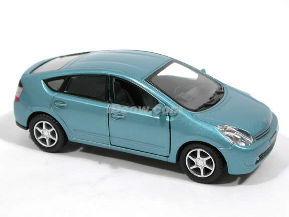 2006 Toyota Prius diecast model car 1:34 scale by Kinsmart - Metallic Blue
