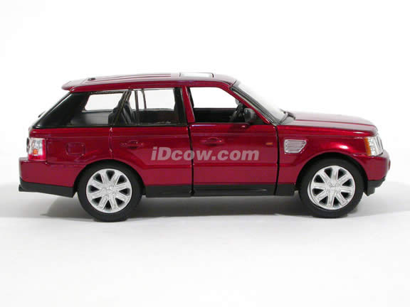 2006 Land Rover Range Rover Sport diecast model Car 1:32 scale die cast by Kinsmart - Metallic Red