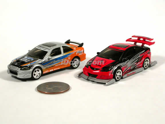 Honda Civic - Acura RSX diecast model cars 1:64 scale diecast by Hot Wheels