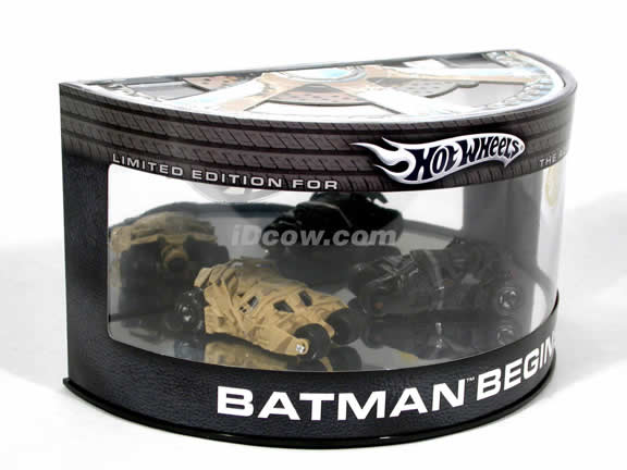 2005 Batman Begins Batmobile diecast model cars 1:64 scale diecast by Hot Wheels - Dual Set