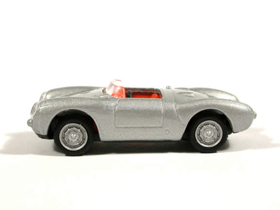 1955 Porsche 550A Spyder diecast model car 1:72 scale die cast by Hongwell - Silver