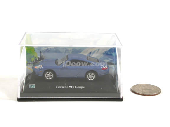 2000 Porsche 911 diecast model car 1:72 scale die cast by Hongwell - Blue
