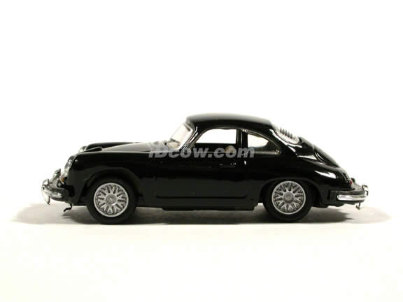 1961 Porsche 356B Coupe diecast model car 1:72 scale die cast by Hongwell - Black