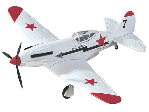 WWII MIG-3 diecast airplane model 1:48 scale die cast from Yat Ming - White