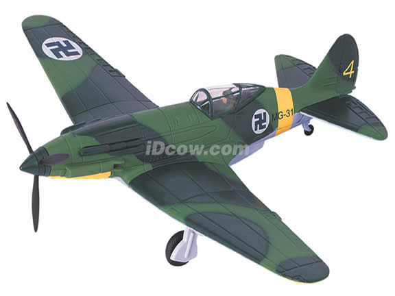 WWII MIG-3 diecast airplane model 1:48 scale die cast from Yat Ming - Green