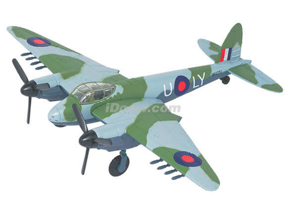 WWII De Havilland Mosquito Mark VI diecast airplane model 1:64 scale die cast from Yat Ming - Green