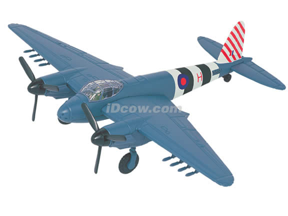 WWII De Havilland Mosquito Mark VI diecast airplane model 1:64 scale die cast from Yat Ming - Blue