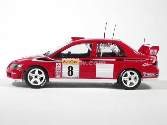 2002 Mitsubishi Lancer Evolution EVO VII WRC #8 diecast model car 1:18 scale by AUTOart