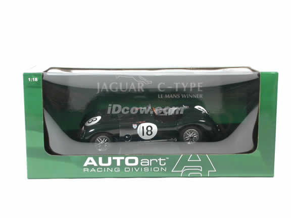 1953 Jaguar C Type diecast model car 1:18 scale by AUTOart