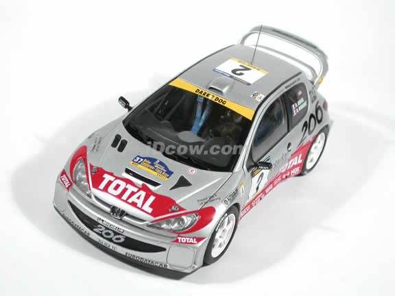 2001 Peugeot 206 WRC #2 - Rally Catalunya diecast model car 1:18 scale by AUTOart
