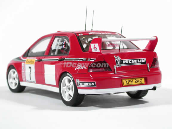 2002 Mitsubishi Lancer EVO VII WRC - #7 diecast model car 1:18 scale by AUTOart