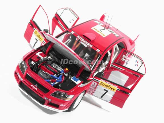 2002 Mitsubishi Lancer EVO VII WRC - #7 diecast model car 1:18 scale by AUTOart