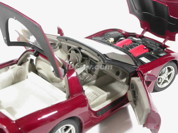2003 Chevrolet Corvette 50th Anniversary diecast model car 1:18 scale by AUTOart - Maroon