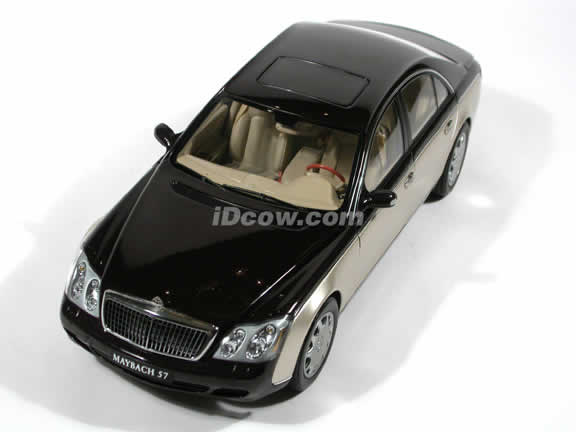 2003 Maybach 57 diecast model car 1:18 scale die cast by AUTOart - Ayers Rock Red, Rocky Mountain Brown Bright