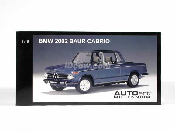 1971 BMW 2002 Baur Cabrio diecast model car 1:18 scale by AUTOart