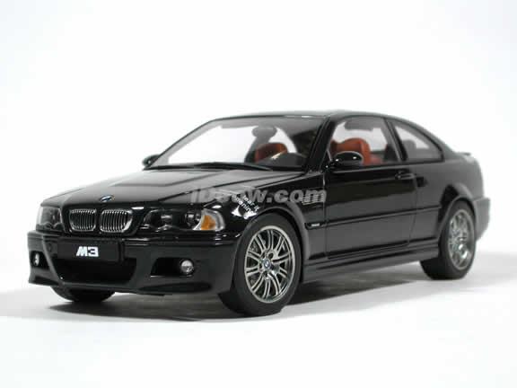 2002 BMW M3 diecast model car 1:18 scale by AUTOart - Black