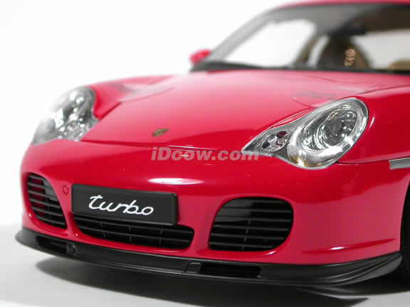 2002 Porsche 911 Turbo diecast model car 1:18 scale by AUTOart - Red