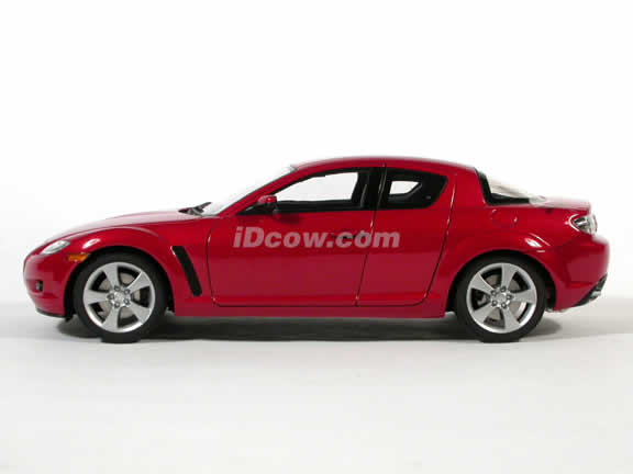 2003 Mazda RX-8 diecast model car 1:18 scale by AUTOart Die Cast - Metallic Red LHD