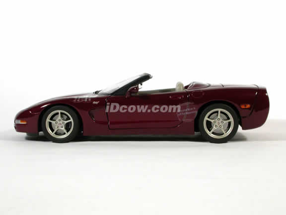 2003 Corvette model 50th Anniversary Convertible die cast car 1:18 diecast by AUTOart - Maroon