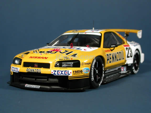 2001 Nissan Skyline GTR R34 JGTC #23 Pennzoil Nismo diecast model car 1:18 scale die cast by AUTOart