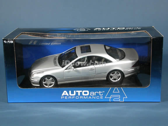 2002 Mercedes Benz CL55 AMG F1 Limited Edition diecast model car 1:18 scale die cast by AUTOart - Silver
