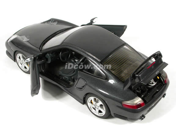 2002 Porsche 911 GT2 diecast model car 1:18 scale die cast by AUTOart - Black Grey