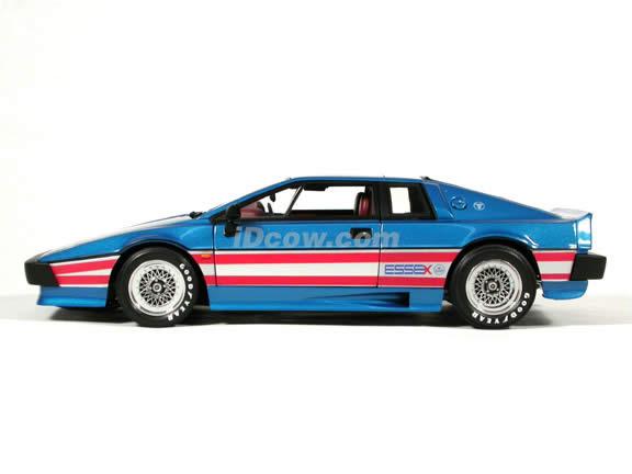 1976 Lotus Esprit Essex Turbo diecast model car 1:18 scale die cast by AUTOart - Blue