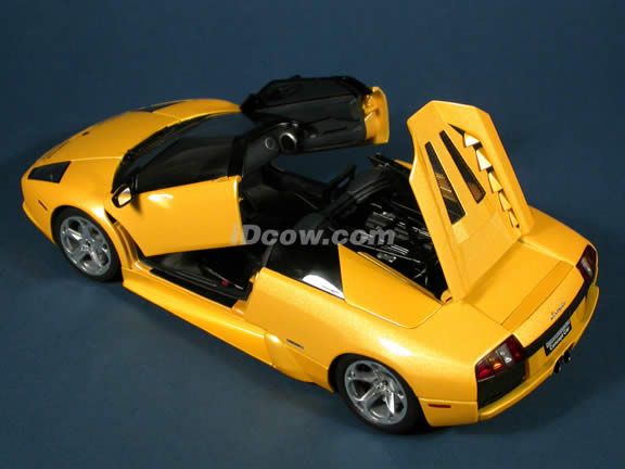 Lamborghini Murcielago Barchetta Concept diecast model car 1:18 scale die cast by AUTOart - Yellow