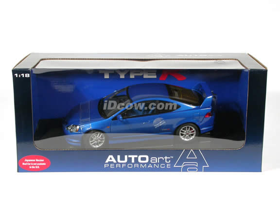 2002 Honda Integra Type R (Acura RSX) diecast model car 1:18 scale die cast by AUTOart - Blue (Japanese version)