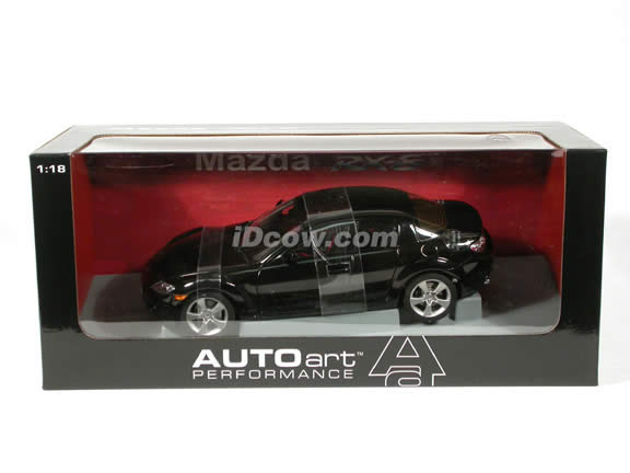 2003 Mazda RX-8 diecast model car 1:18 scale die cast by AUTOart - Black LHD