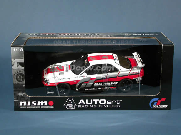 2002 Nissan Skyline GT-R R34 Gran Turismo diecast model car 1:18 scale die cast by AUTOart