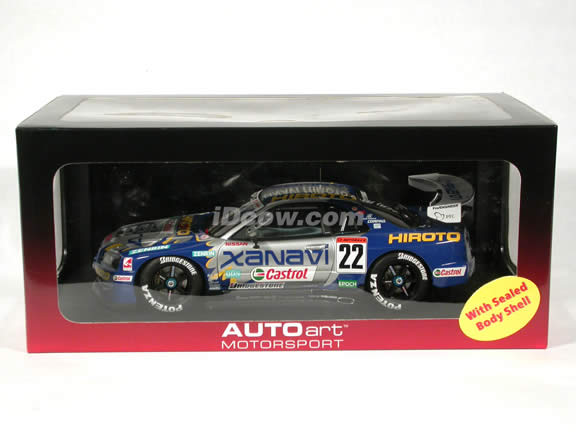 2001 Nissan Skyline GTR R34 JGTC #22 Xanavi Hiroto diecast model car 1:18 scale die cast by AUTOart