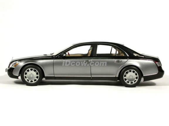 2003 Maybach 57 diecast model car 1:18 scale die cast by AUTOart - Caspian Black Himalaya Grey