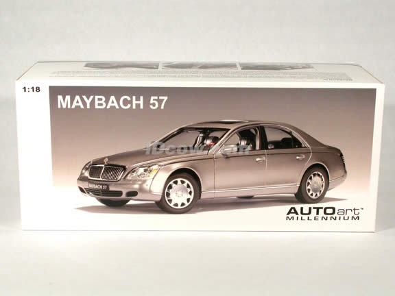 2003 Maybach 57 diecast model car 1:18 scale die cast by AUTOart - Himalaya Grey