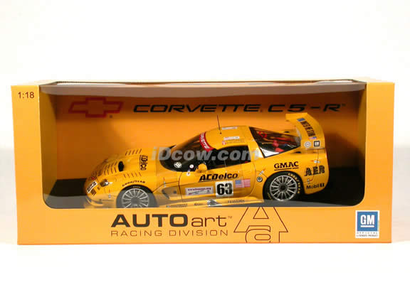 2002 Corvette C5-R #63 AC Delco - Le Mans Winner diecast model car 1:18 scale die cast by AUTOart