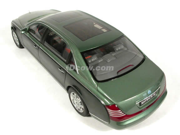 2004 Maybach 62 diecast model car 1:18 scale die cast by AUTOart - Mayba Ireland Green Middle / Ireland Green Dark