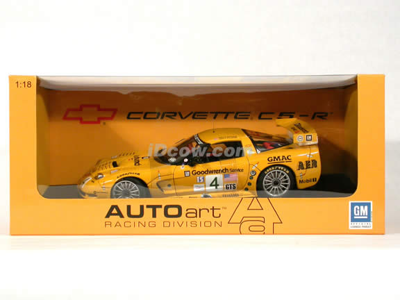2002 Corvette C5-R #4 ALMS Road America 500 Winner diecast model car 1:18 scale die cast by AUTOart