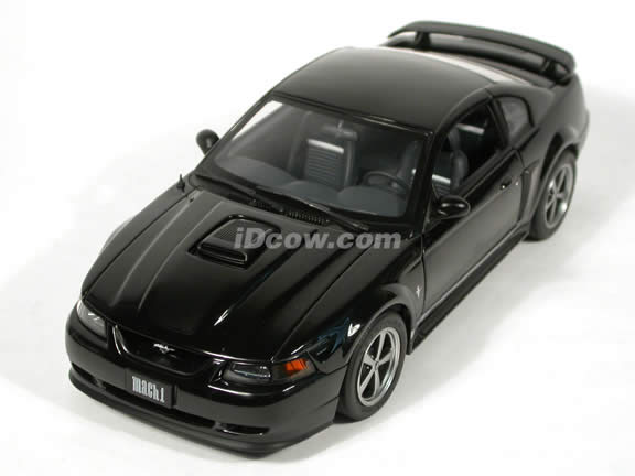 2003 Ford Mustang Mach 1 diecast model car 1:18 scale die cast by AUTOart - Black