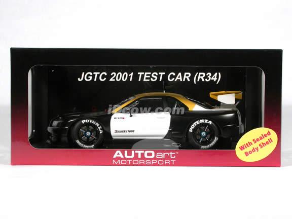 2001 Nissan Skyline R34 GTR JGTC Test Car diecast model car 1:18 scale die cast by AUTOart